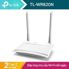 TP-Link Máy Phát Wifi Chuẩn N tốc độ 300 Mbps Có Thiết Kế Tản Nhiệt Độc Đáo TL-WR820N – Hãng Phân Phối Chính Thức