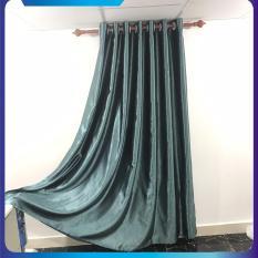 màn cửa, rèm cửa chống nắng, ngang 1.5m, 2m, 2.5m, 3m cao tùy chọn màu xanh ngọc bích, dùng làm rèm cửa chính, rèm cửa sổ, màn cửa chống nắng + tặng dây vén màn trang trí, miasimi hoàng yến