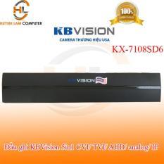 Đầu ghi KBVSION KX-7108SD6 8 kênh 5 in 1 – hỗ trợ camera lên đến 4.0 và 2 kênh IP