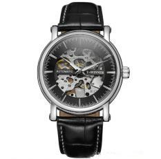 Đồng hồ cơ nam T-Winner H273M lộ máy (M Mặt đen vỏ trắng)