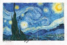 Cá Chép – Postcard – Van Gogh – Đêm Đầy Sao 1889