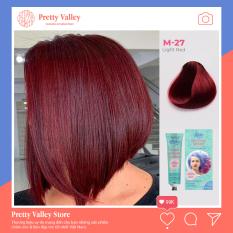 Kem nhuộm tóc cao cấp màu đỏ vang sáng Molokai 60ml [ TẶNG KÈM GĂNG TAY + CHAI OXY TRỢ DƯỠNG TÓC ]