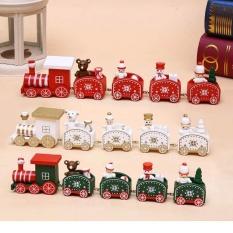 Đoàn tàu gỗ Santa Claus trang trí giáng sinh