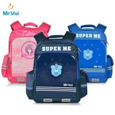 Mr Vui BLH772 ba lô học sinh siêu nhẹ dành cho bé trai và bé gái (balo hoc sinh di hoc cap 1/ cap 2)