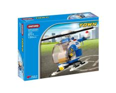 Đồ chơi xếp hình trực thăng cảnh sát Oxford ST33331