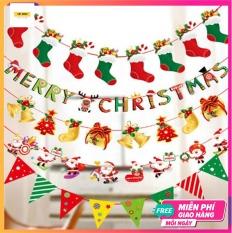 Dây cờ 2.5m trang trí Noel/Giáng sinh nhiều mẫu bản to