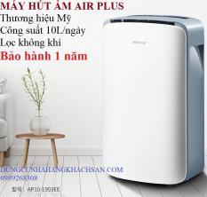 Máy hút ẩm AIR PLUS 10L Thương hiệu Mỹ công suất lớn – Lọc không khí – sấy khô quần áo- bảo hành 1 năm- hõ trợ bảo hành 1 năm