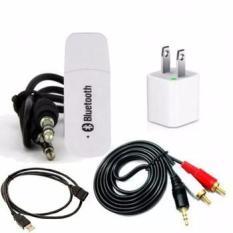 Bộ USB Bluetooth Wireless DMZMusic Receiver thùy linh tạo kết nối bluetooth cho amply và loa (Trắng)