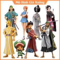 Mô hình One Piece Wano Luffy , Zoro , Usop, Sanji , Nami , Brook , Choper , Robin , O kiku cao từ 17cm đến 21cm – figure anime one piece