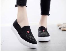 Giày lười vải đen for you – Slip on vải đen