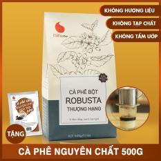 Cà phê bột Robusta Thượng hạng , vị đậm , đắng , mạnh , hậu ngọt , không tẩm ướp , không pha trộn hương liệu – Light Coffee – 500g