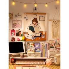 Tấm Thảm Treo Tường SIZE 32cmx40cm Họa Tiết Cô Gái Đáng Yêu Trang Trí Phòng Ngủ Phòng Khách