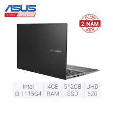 Laptop ASUS VivoBook 15 A515EA-BQ491T i3-1115G4 4GB DDR4 512GB SSD Intel® UHD Graphics 15.6 inch FHD Windows 10