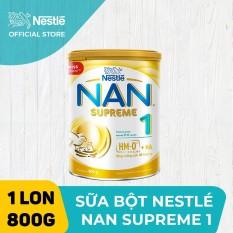 Sản phẩm dinh dưỡng công thức Nestle NAN SUPREME 1 800g cho trẻ từ 0-6 tháng tuổi giúp trẻ dễ tiêu hóa và tăng cân khỏe mạnh