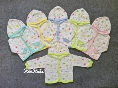 (3-15kg) Áo khoác nón họa tiết – thun cotton cho bé