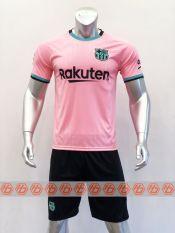 Bộ quần áo bóng đá CLB BARCA Tay Ngắn màu HỒNG đồ đá banh mới 2020-2021
