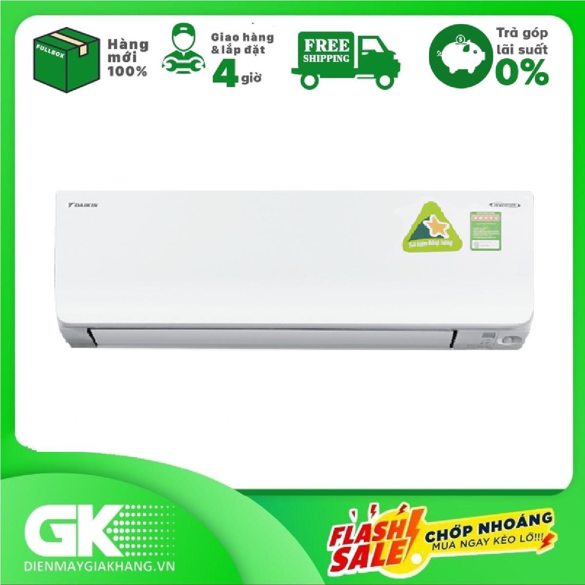 TRẢ GÓP 0% – Máy lạnh Daikin Inverter 1 HP FTKM25SVMV
