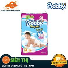[Siêu thị Lazada] – Tã quần Bobby (hương trà xanh) gói siêu lớn M-60 miếng (6 – 10kg)