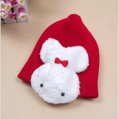 Mũ len thỏ trắng cho bé