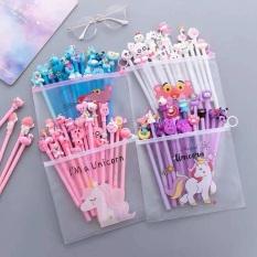 Set 10,20 cây bút bi nước hình thú ngộ nghĩnh không tặng túi zip