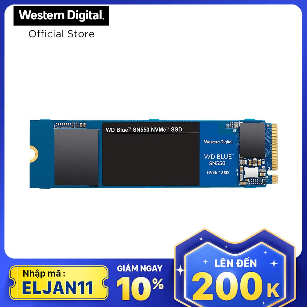 Ổ cứng SSD WD Blue SN550 PCIe Gen3 x4 NVMe M.2 250GB WDS250G2B0C