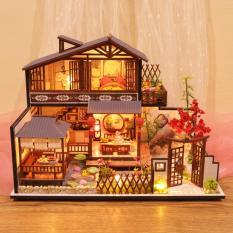 Mô hình nhà mini Thung Lũng Tình Yêu P002 Tặng kèm keo dán, bộ dụng cụ lắp ghép và mica chắn bụi và cót nhạc