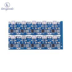 {lotsgoods}10 cái 5 v USB Mini 1A TP4056 Bo Mạch Sạc Sạc Modem-quốc tế(Black)