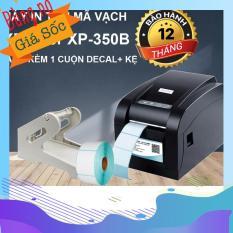 Máy In Tem Mã Vạch Xprinter XP-350B Tặng 1 Cuộn Giấy In Tem Mã Vạch Chuyên Dụng+ Kệ
