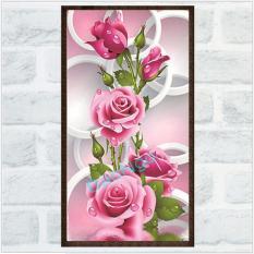 Tranh đính đá Hoa hồng Bảo Ngọc