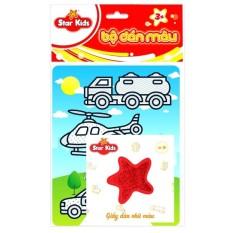 Bộ tranh dán màu phương tiện giao thông rstar K-601, chất liệu và thiết kế an toàn cho trẻ, hàng đảm bảo như mô tả
