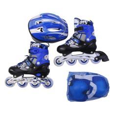 [ĐỦ SIZE CHO BÉ VÀ NGƯỜI LỚN] Giày trượt patin trẻ em, người lớn bánh phát sáng OS cao cấp + Tặng mũ và bộ bảo hộ, đủ size S, M, L