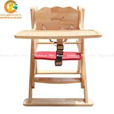 Ghế ăn dặm cho bé Goldcat -Thiết kế giằng gỗ chắc chắn với 3 nấc chiều cao