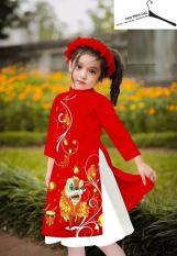 (Ảnh Thật) Set Áo Dài Cách Tân Cho Bé Gái+ Tặng Kèm Chân Váy và Mấn Xinh Xắn Dịp Tết ,áo dài cách tân cho bé áo dài trẻ em áo dài cho bé áo dài cách tân trẻ em