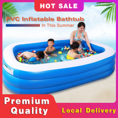 [Bơm khí miễn phí]1-3 PVC Bể Bơi Bơm Hơi hống Mài Mòn Dày Tương Tác Gia Bể bơi bơm hơi ngoài trời cho trẻ em Nhà trẻ em Sử dụng bể bơi chèo thuyền Di động, có thể gập lại Lồng tắm trẻ em