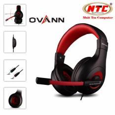 Tai nghe chụp tai Ovann X4 – loai on ear (Đen đỏ) – Nhất Tín Computer