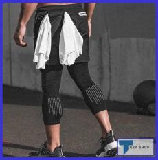 Quần đùi legging dài 2 lớp ASRV T-Rex Shop SP126 – Quần đùi thể thao nam 2 lớp liền legging (Men Pants, legging pant,đồ tập quần áo gym, mẫu short ngắn,thể hình,tạ Fitness)