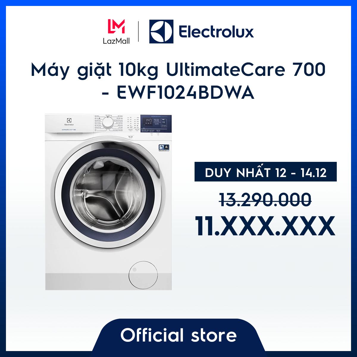 [Miễn phí Công Lắp đặt – Giao hàng HCM & HN] Máy giặt 10kg EWF1024BDWA – Công nghệ Sensorwash- Tiết kiệm điện 50%-Thiết kế châu Âu- Hàng chính hãng