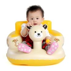 Ghế hơi tập ngồi hình gấu cho bé màu vàng (tặng keo dan và miếng vá )