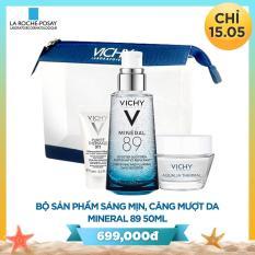 Bộ sản phẩm Dưỡng Chất (Serum) Giàu Khoáng Chất Vichy Mineral 89 50ml Giúp Da Sáng Mịn Và Căng Mượt