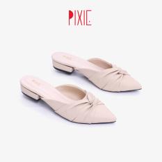 Dép Sục Bệt Mũi Nhọn Nơ Xoắn Pixie X673