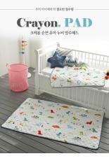 [MADE IN KOREA] THẢM CHỐNG THẤM CAO CẤP CHO BÉ NHẬP TRỰC TIẾP TỪ HÀN QUỐC, MẪU CÁ SẤU 75cm x 100cm