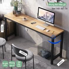 Bàn học bàn máy tính bàn làm việc tại nhà và văn phòng dáng dài kiểu Bắc Âu hiện đại đơn giản