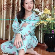 Đồ Bộ Pijama Tay Dài Vải Kate Thái Loại 1 Siêu Min Đẹp Freesize 45kg Đến 59kg Đều Vừa CAM KẾT ĐÚNG MẪU