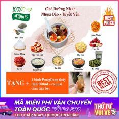 [Combo HOT] Set 10 gói nguyên liệu nấu chè dưỡng nhan tuyết yến nhựa đào 11 vị thảo dược tặng 1 bình PongDang thủy tinh 500ml có quai cầm tiện lợi – P Shop VN