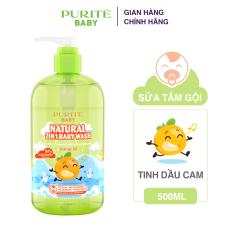 Sữa Tắm Gội Purité Baby Hương Hoa Thiên Nhiên 2in1 Tinh Dầu Cam