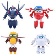 Hộp 4 con đội bay siêu đẳng biến hình thành máy bay và robot loại đẹp thiết kế ngộ nghĩnh, đáng yêu