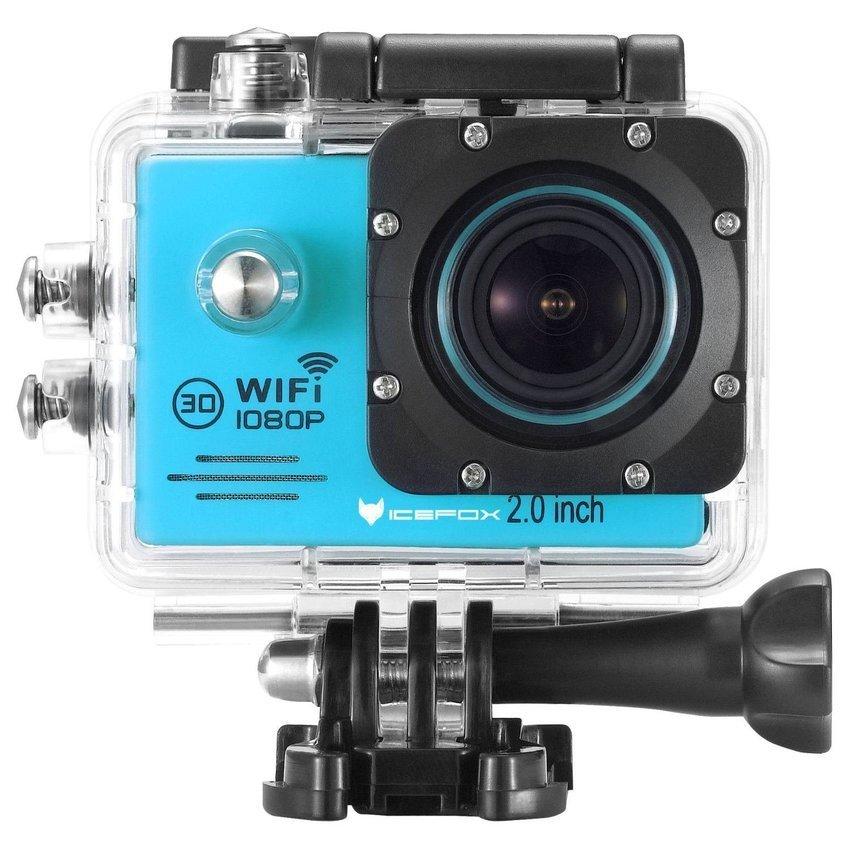 Camera hành động Sports Cam Full HD 1080P Wi-Fi (Xanh)