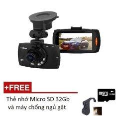 Camera hành trình HD Plus G30 1080P có cổng HDMI (Đen) + Tặng 01 Thẻ nhớ 32GB và 01 máy chống ngủ gật
