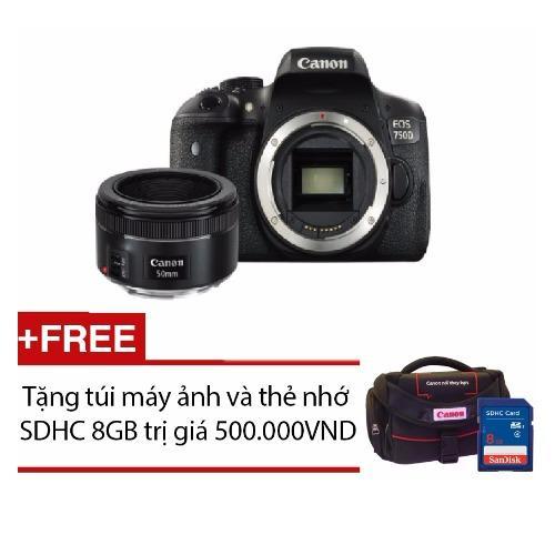 Canon EOS 750D Body + EF50mm F1.8 STM – Hàng phân phối chính hãng