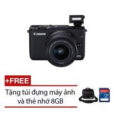 Canon EOS M10 18MP với Lens Kit EF-M 15-45mm (Đen) + Tặng 1 Thẻ 8GB và 1 túi đựng máy ảnh chính hãng